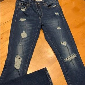 Garage Distressed High Waisted Jeans